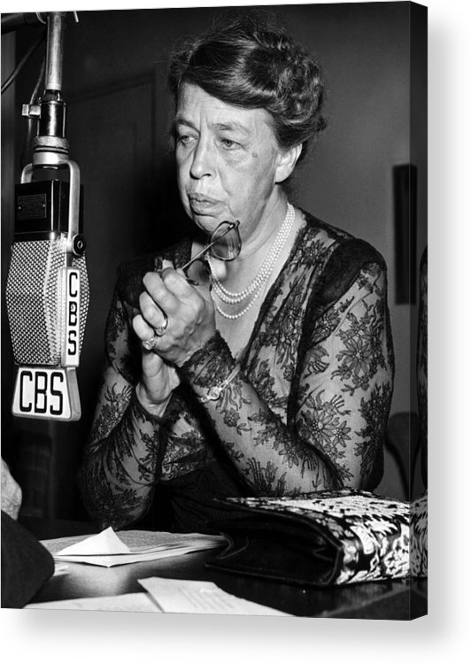 1940s Candid Acrylic Print featuring the photograph Former First Lady Eleanor Roosevelt by Everett