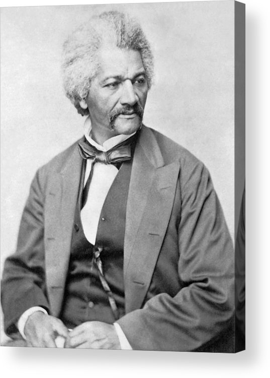 Frederick Douglass Acrylic Print featuring the photograph Frederick Douglass by War Is Hell Store