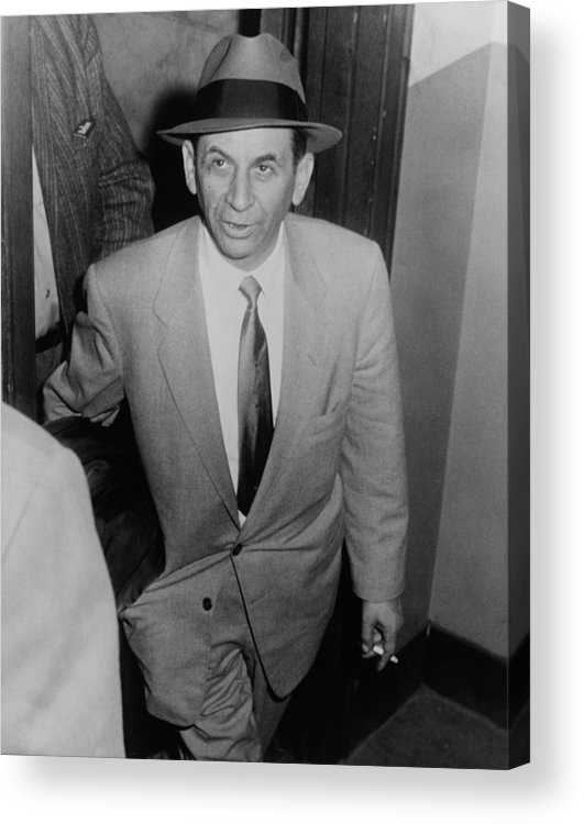 History Acrylic Print featuring the photograph Gambling Boss Meyer Lansky 1902-1983 by Everett