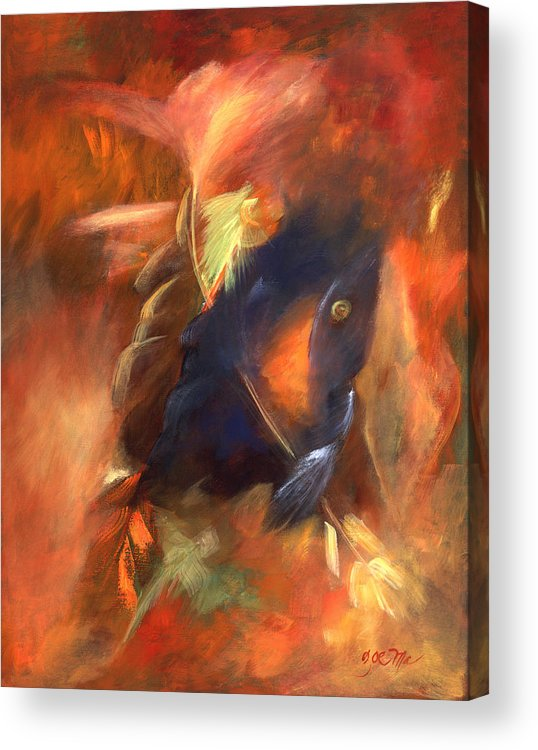 Grandfather Spirit. Abstract Acrylic Print featuring the painting Grandfathers Light by Zoe Landria