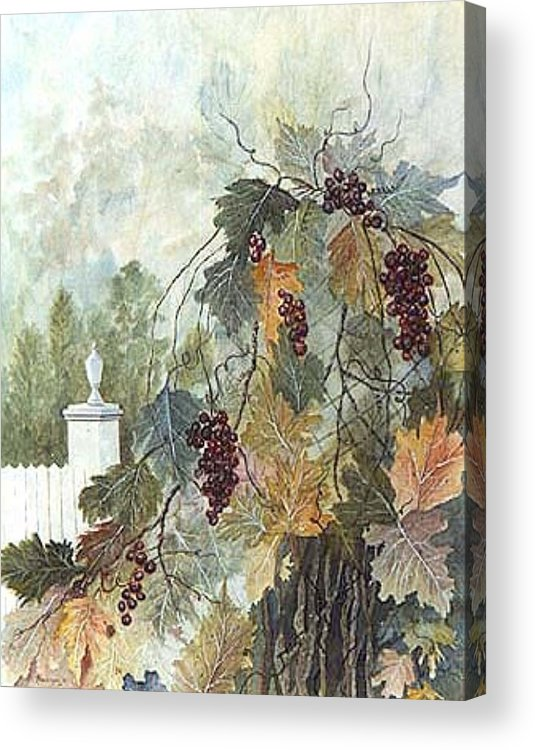 Fruit Acrylic Print featuring the painting Grapevine Topiary by Ben Kiger