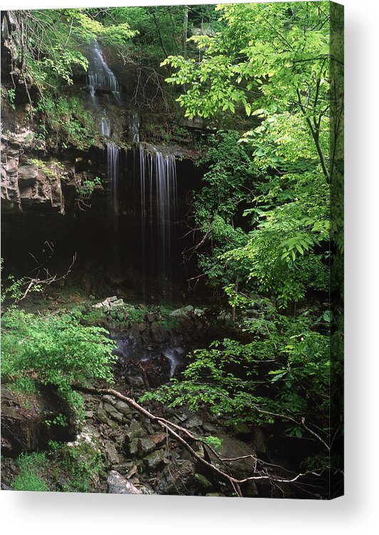 Acrylic Print featuring the photograph Green-falls by Curtis J Neeley Jr