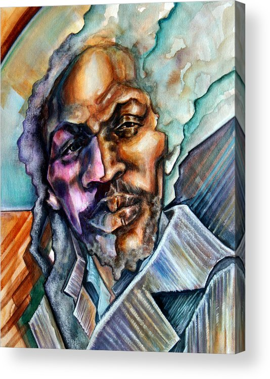 Reggae Acrylic Print featuring the painting Hard-edged Sound by Robert Nelson