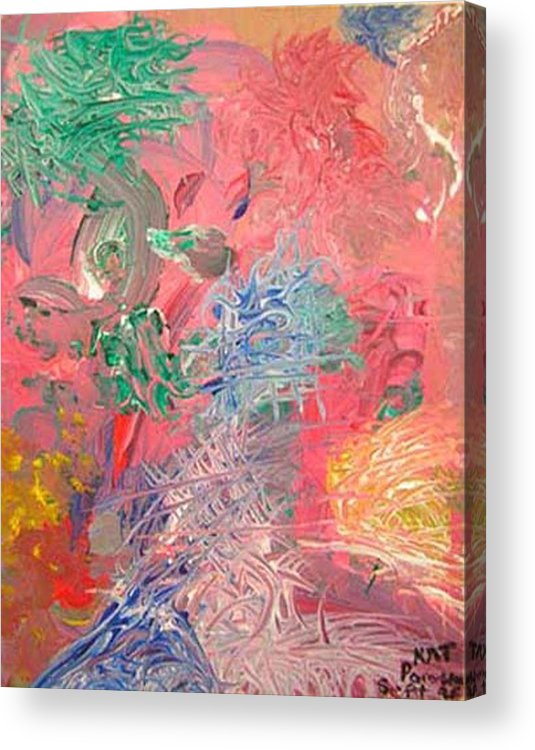 Abstract Acrylic Print featuring the painting Hidden Dreams by Natalee Parochka