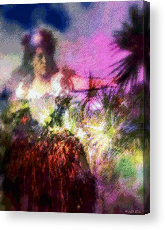 Tropical Interior Design Acrylic Print featuring the photograph Hula Mai Oe by Kenneth Grzesik