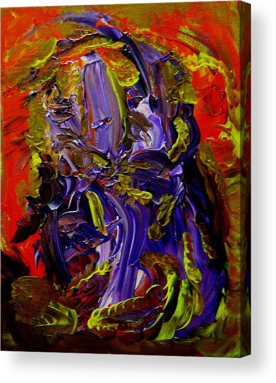 Ill Acrylic Print featuring the painting Ill Iris by Karen L Christophersen