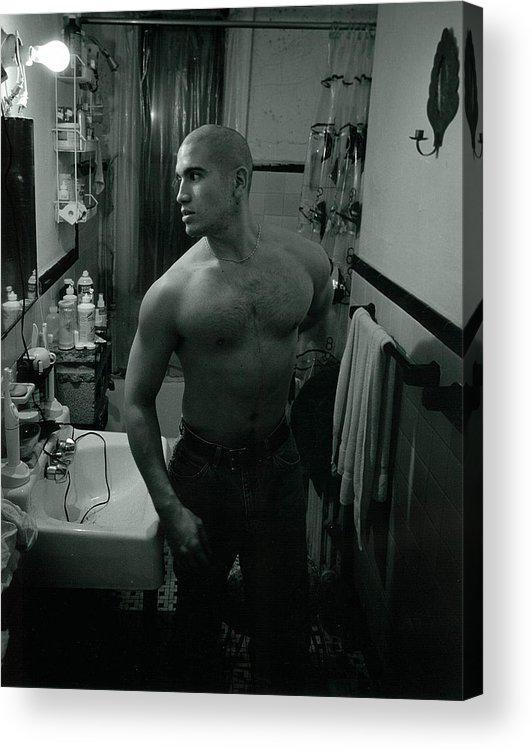 Portrait Acrylic Print featuring the photograph Jesse After Shaving His Head by Rusty Walton