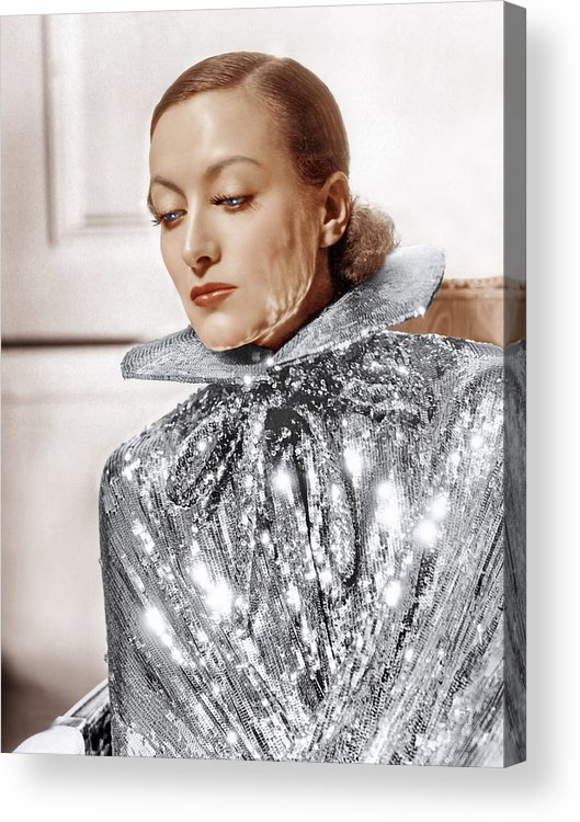 1930s Fashion Acrylic Print featuring the photograph Joan Crawford, Photo By Hurrell, Ca by Everett