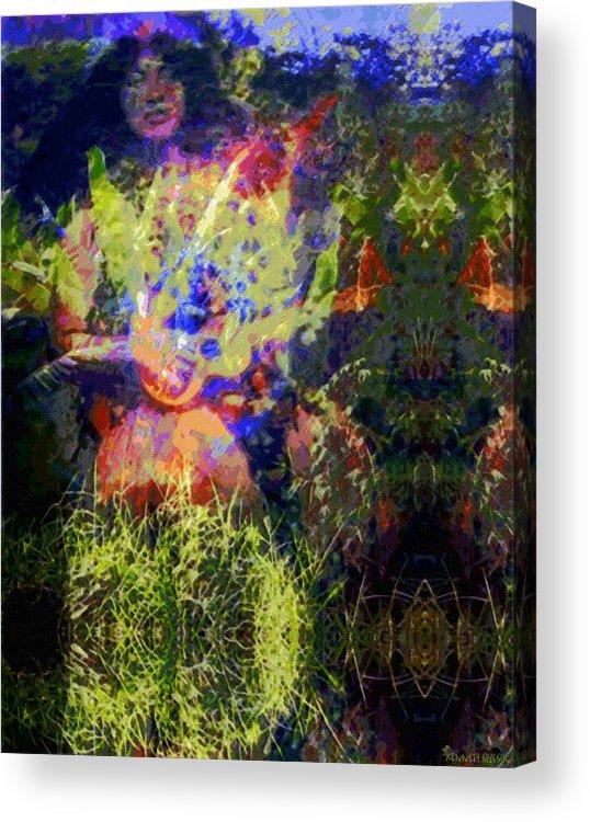 Rainbow Colors Digital Acrylic Print featuring the photograph Kihapai O Ekena by Kenneth Grzesik