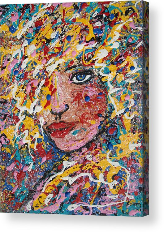 Woman Acrylic Print featuring the painting Kuziana by Natalie Holland