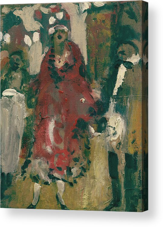 Figure Acrylic Print featuring the painting Laboheme Act 2 Cafescene by Bill Collins