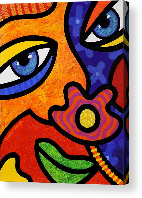 Eyes Acrylic Print featuring the painting Lilli Lilligrin by Steven Scott