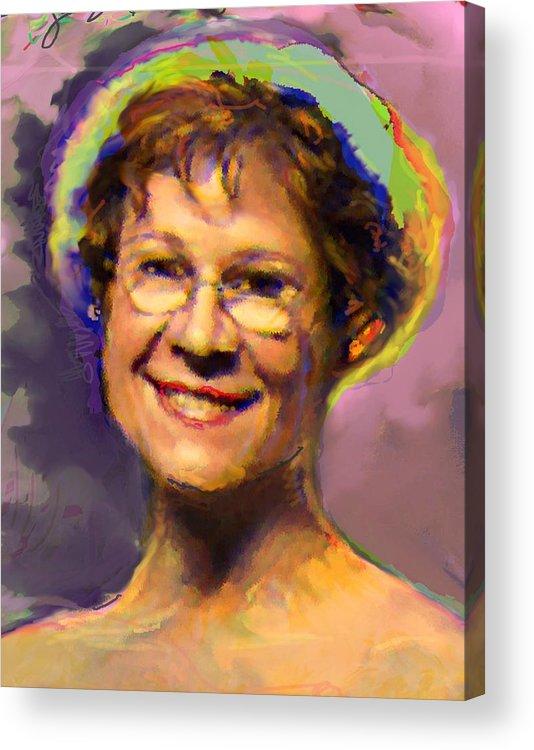 Portrait Acrylic Print featuring the digital art Lorraine by Noredin Morgan