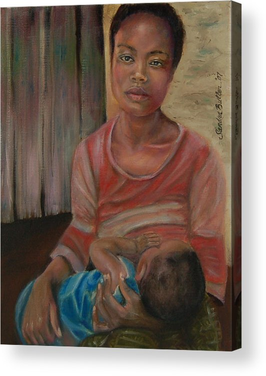 Mother Acrylic Print featuring the painting Love And Despair by Sandra Butler
