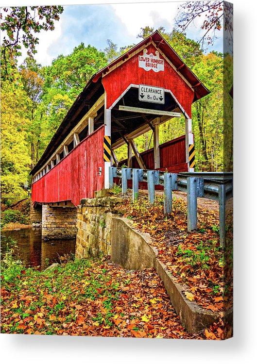 Pennsylvania Acrylic Print featuring the photograph Lower Humbert Covered Bridge 2 by Steve Harrington