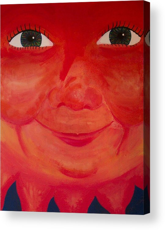 Sun Acrylic Print featuring the painting Magnificent Sun by Jennifer Hernandez