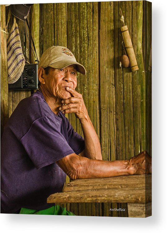 Peru Acrylic Print featuring the photograph Man Of The House by Allen Sheffield