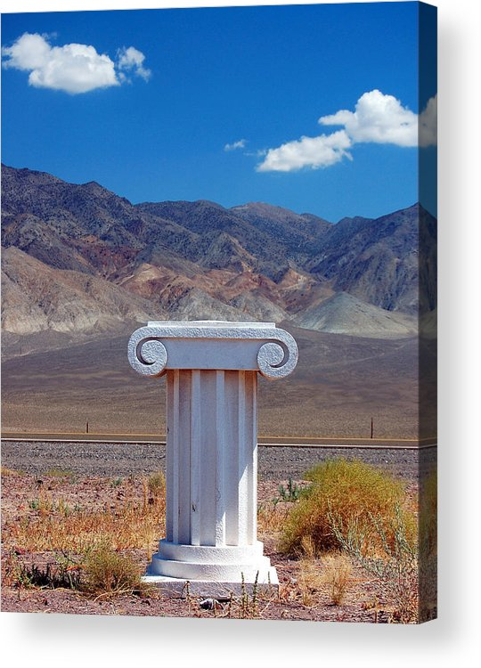 Columns Acrylic Print featuring the photograph Middle Of Nowhere by Heather S Huston