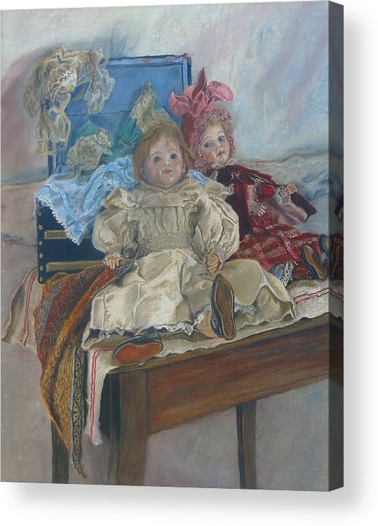 Pastel Acrylic Print featuring the painting Mlle. Pinchon by Miriam A Kilmer