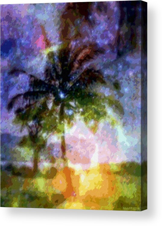 Tropical Interior Design Acrylic Print featuring the photograph Mystic Palm by Kenneth Grzesik