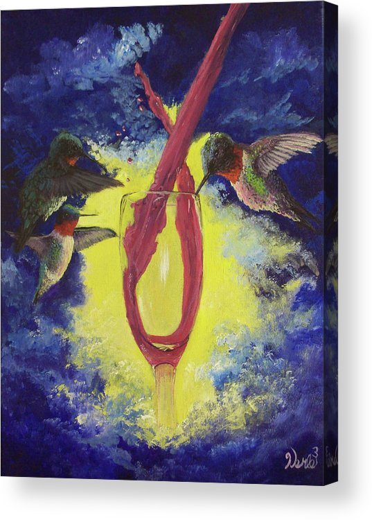 Hummingbird Paintings Acrylic Print featuring the painting Nectar by Bill Werle
