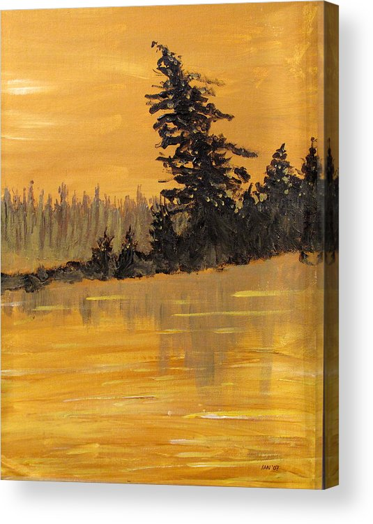 Northern Ontario Acrylic Print featuring the painting Northern Ontario Three by Ian MacDonald