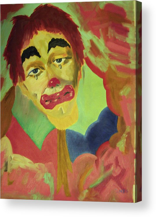 Acrylic Print featuring the painting Oh No by James Jones