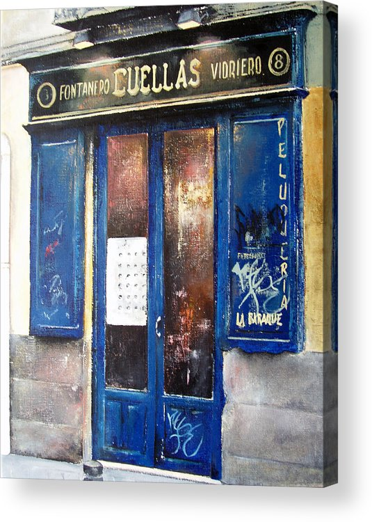 Old Acrylic Print featuring the painting Old Plumbing-madrid by Tomas Castano