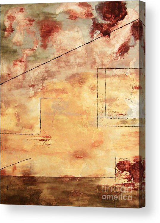 Abstract Acrylic Print featuring the painting On The Verge by Itaya Lightbourne