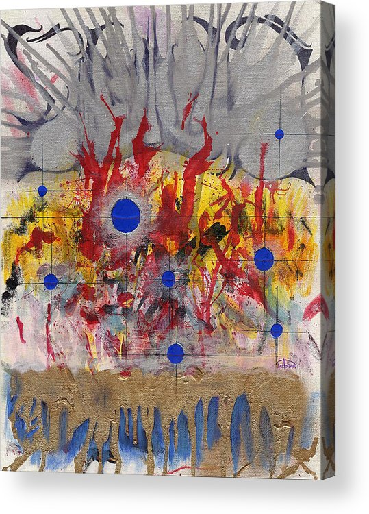 Chaos Acrylic Print featuring the painting Order In Chaos by Nathaniel Hoffman