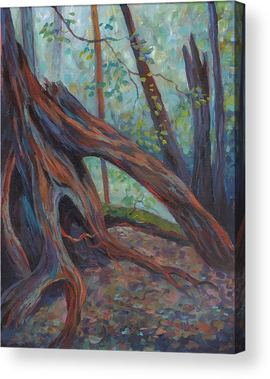 Red Cedar Acrylic Print featuring the painting Red Cedar by Peggy Wilson