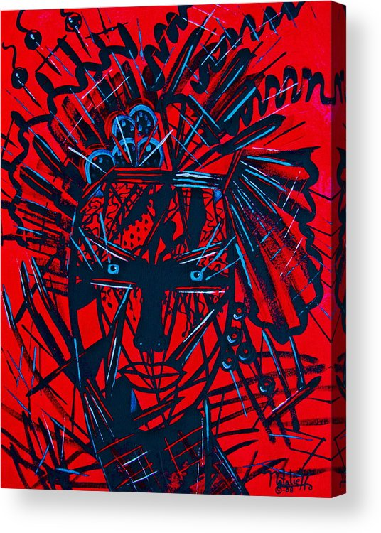 Abstract Acrylic Print featuring the painting Red Exotica by Natalie Holland