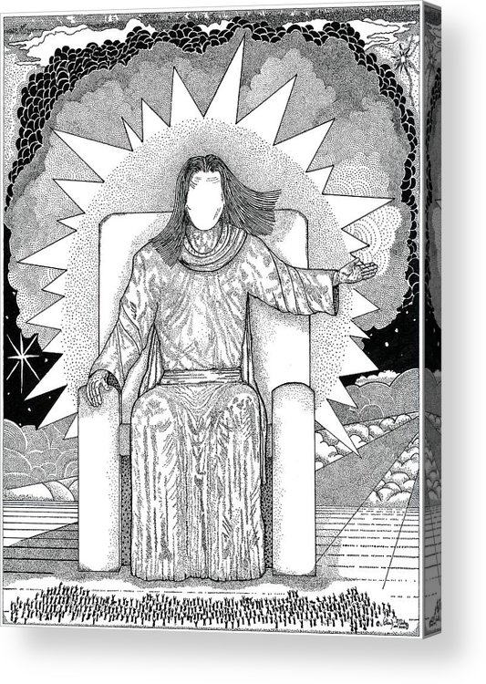 Revelation Acrylic Print featuring the drawing Revelation 20 by Glenn McCarthy Art and Photography