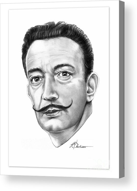 Drawing Acrylic Print featuring the drawing Salvador Dali by Murphy Elliott