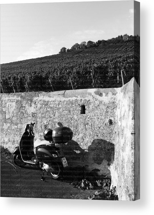 Scooter Acrylic Print featuring the photograph Scooter In Wurzburg by Kate Pavlovich