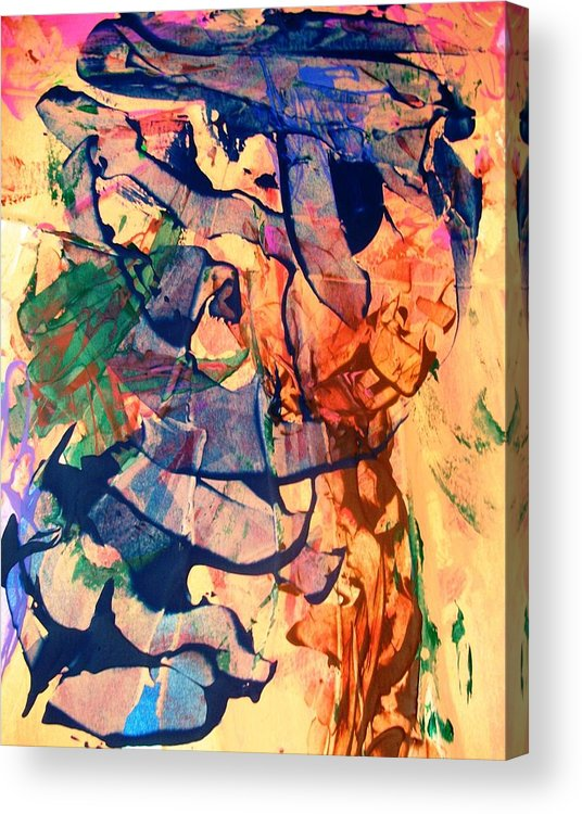 Abstract Acrylic Print featuring the painting Secret Pentagon Project by Bruce Combs - REACH BEYOND