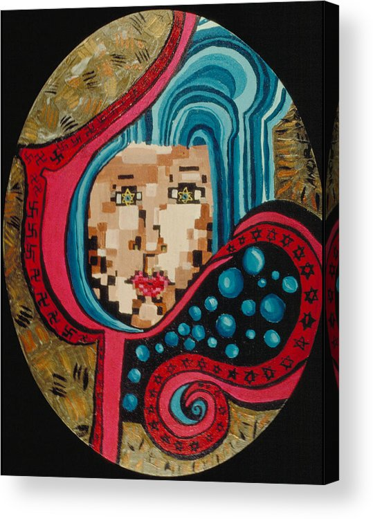 Jandrel Acrylic Print featuring the painting Self Portrait by J Andrel