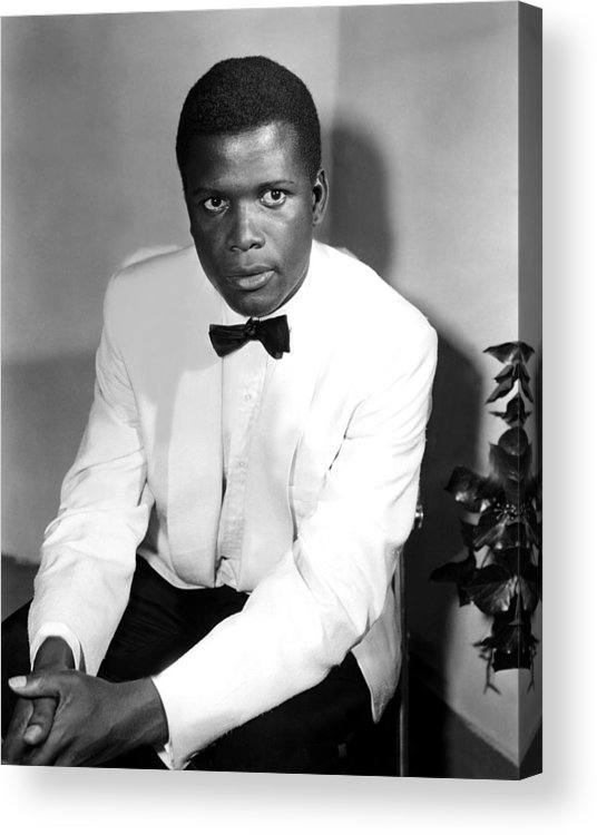 1950s Fashion Acrylic Print featuring the photograph Sidney Poitier, On The Set For The Film by Everett