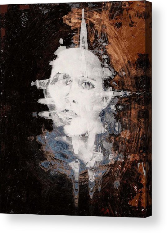 Portrait Acrylic Print featuring the digital art Silenced by LeeAnn Alexander
