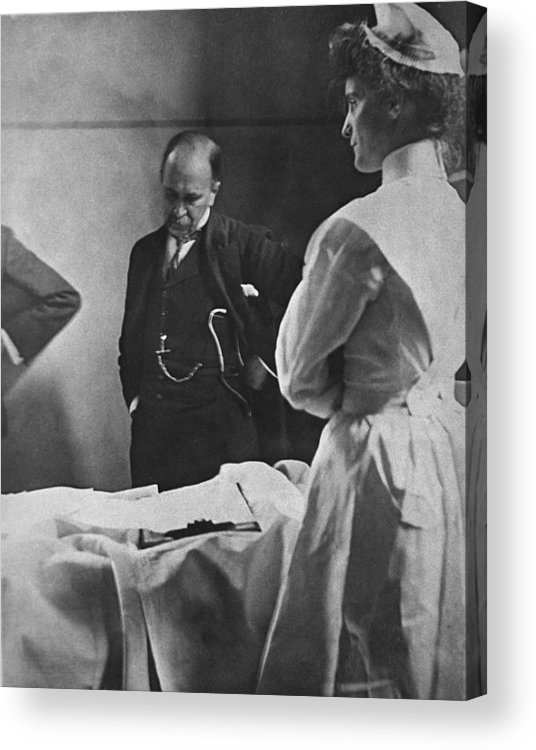 History Acrylic Print featuring the photograph Sir William Osler 1849 � 1919, Reading by Everett