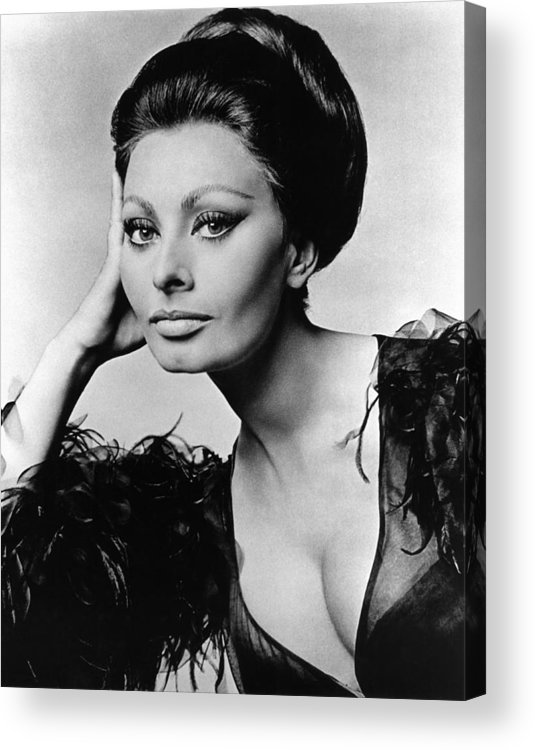 1960s Acrylic Print featuring the photograph Sophia Loren, In Costume For Arabesque by Everett