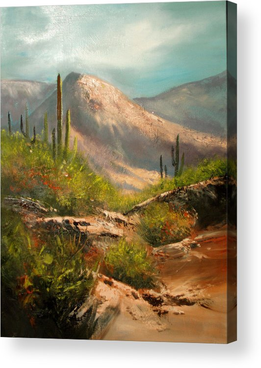 Landscape Acrylic Print featuring the painting Southwest Beauty by Robert Carver