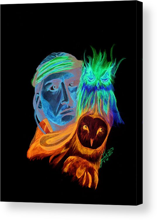 Native American Acrylic Print featuring the drawing Spirits by Jason McRoberts