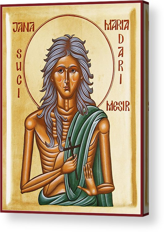 Icon Acrylic Print featuring the painting St Mary Of Egypt by Julia Bridget Hayes