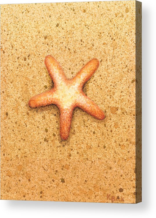 Print Acrylic Print featuring the painting Star Fish by Katherine Young-Beck
