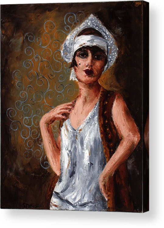 Woman Acrylic Print featuring the painting Stella by Robin DeLisle
