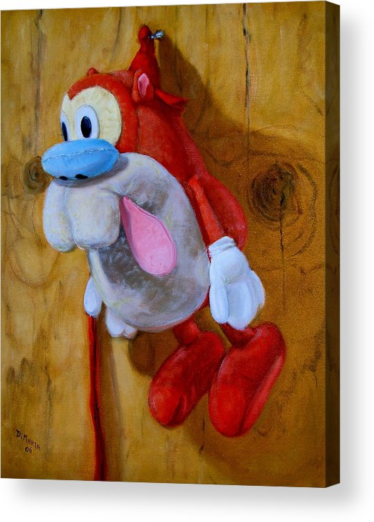 Realism Acrylic Print featuring the painting Stimpy by Donelli DiMaria