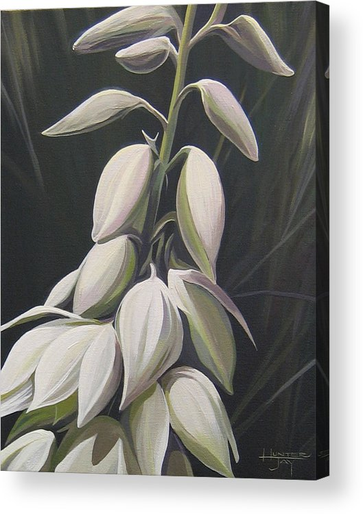 Yucca Plant Acrylic Print featuring the painting Summersilver by Hunter Jay