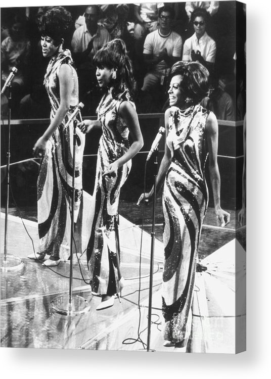 1963 Acrylic Print featuring the photograph The Supremes, C1963 by Granger
