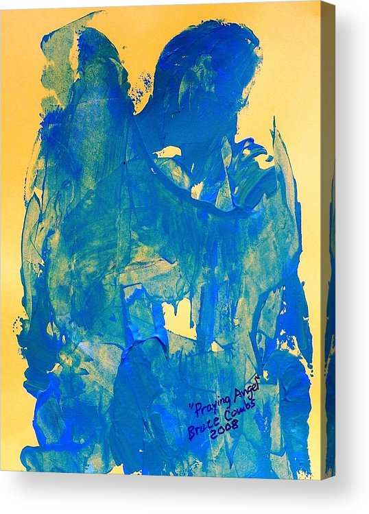 Acrylic Print featuring the painting The Thinking Angel by Bruce Combs - REACH BEYOND